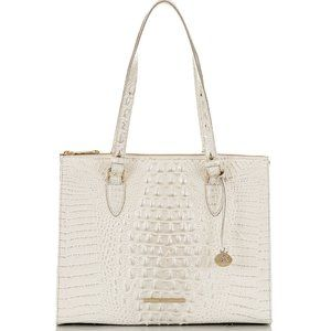 Brahmin  Melbourne Embossed Leather Tote Bag